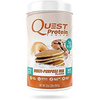 Quest Nutrition Protein Powder, Multi-Purpose, 24g Protein, 96% P/Cals, 0g Sugar, 1g Net Carbs, Low Carb, Gluten Free, Soy Free, 2lb Tub, Packaging May Vary