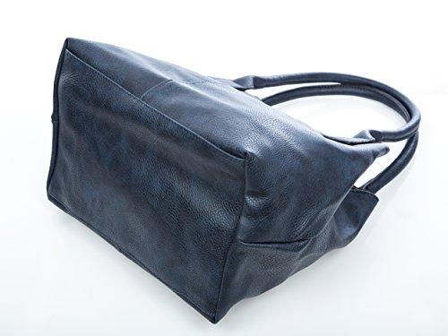 Donna Borsa Tote Bag Medium Blu Street Blau