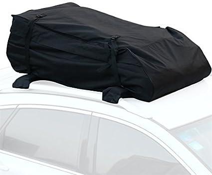 Landmark Van Mit Starker Und Haltbarer Pp.-Klimaschnalle//Doppelte Maschenoberfl/äche//Rei/ßverschluss/öffnungsentwurf//Einfach Bringen F/ür Jeep Findema Auto-Dach-Innenfracht-Netz-Tasche SUV An