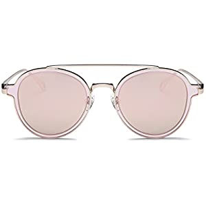 LKEYE-Unisex Polarized Sunglasses Metal Frame UV Protection Mirrored Lens LK1706