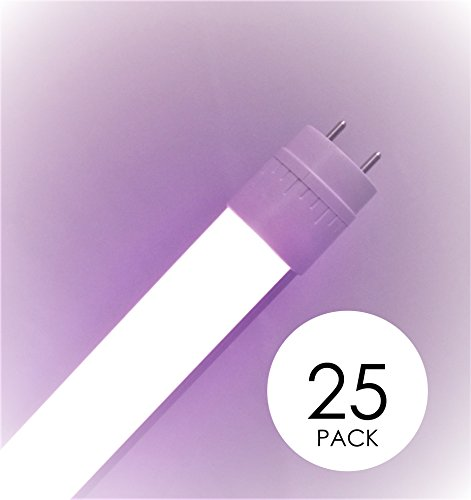 25 pack Promolux T8 LED for Meat, Seafood and Produce 4FT (48in) Ballast Compatible by Promolux
