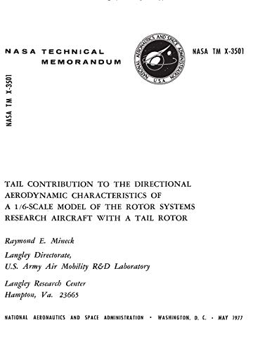 System Rotor Tail - Tail contribution to the directional aerodynamic characteristics of a 1/6-scale model of the rotor systems research aircraft with a tail rotor