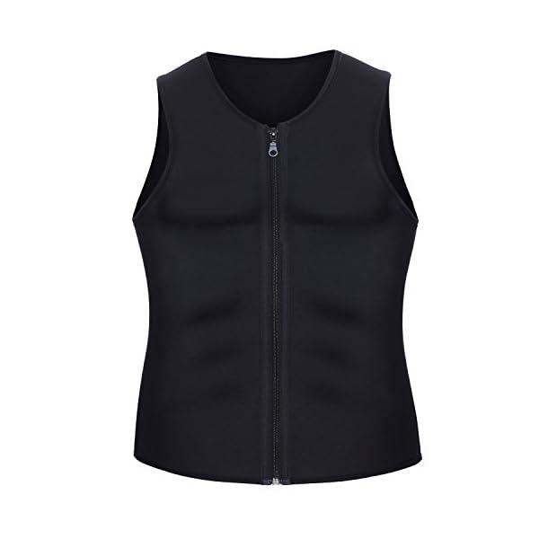 3a4b00301d Men Waist Trainer Vest for Weightloss Hot Neoprene Corset Body Shaper  Zipper Sauna Tank Top Workout Shirt by Wonderience