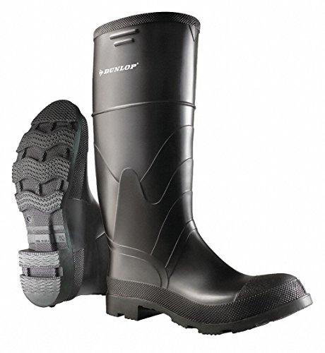 Dunlop 16H Mens Knee Boots, Plain Toe Type, PVC Upper Material, Black, Size 5 5 Black 866050533 - 1 Each