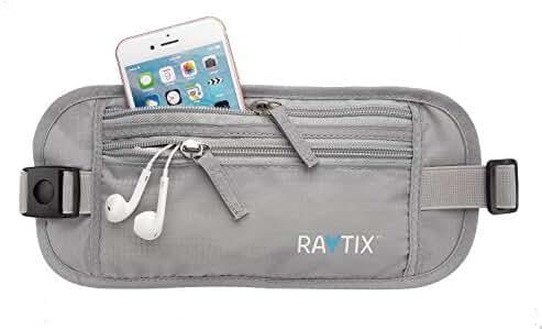 Travel Money Belt: Safe, Well Designed & Comfortable Money Carrier For Travelling & More - Blocks RFID Transmissions – Secure, Hidden Travel Wallet