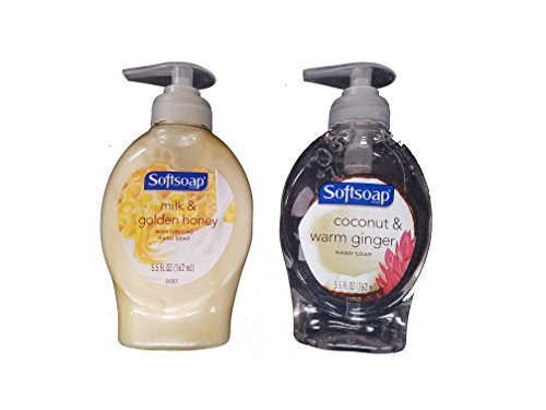 Softsoap Vaiety Pack Milk & Golden Honey and Coconut & Warm Ginger (One of Each 5.5 Fl Oz) (1 Ginger)