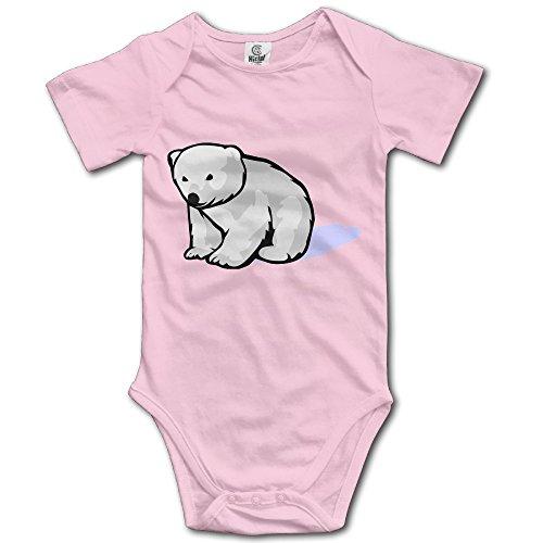 Tight Skull Cartoon Baby Polar Bear Vector Cute Unisex Short Sleeve Baby (Black Bear In Polar Bear Costume)