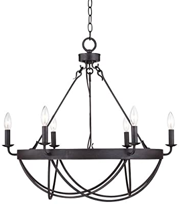 """Lyster Square 28"""" Wide Oil-Rubbed Bronze Chandelier"""