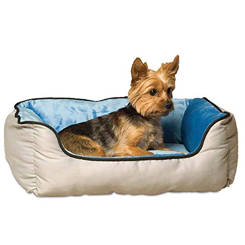 K&H Pet Products 3162 Self-Warming Lounge Sleeper Pet Bed Small Gray/Blue 16″ x 20″