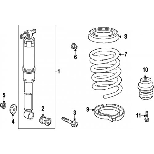 Absorber Genuine Shock - Genuine Honda 52610-TK8-A11 Shock Absorber Assembly, Rear