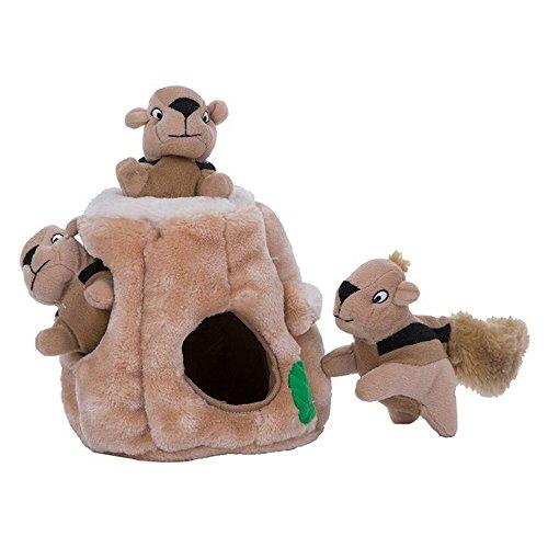 Outward Hound Hide A Squirrel Dog Toy (Junior) (Brown)