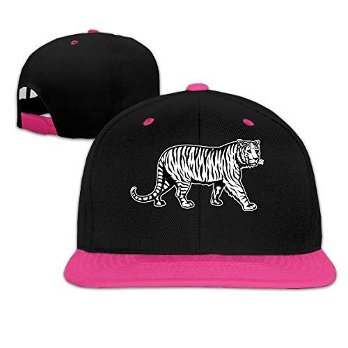 Tiger Clipart Adjustable Hip Pop Baseball Caps Travel Hat Pink