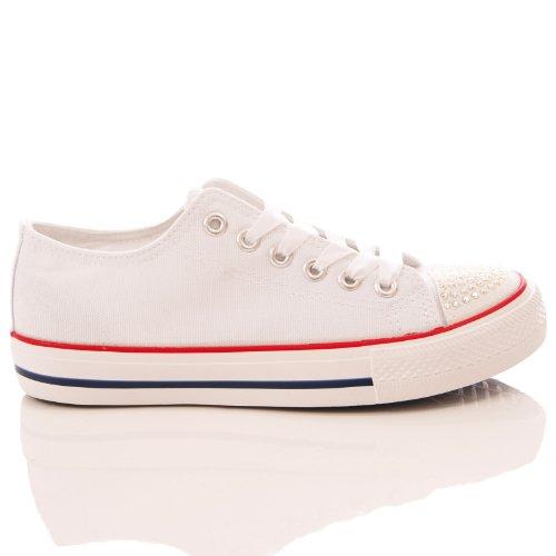 shoes dia te encrusted flat canvas plimsoll 0Sp52crLE