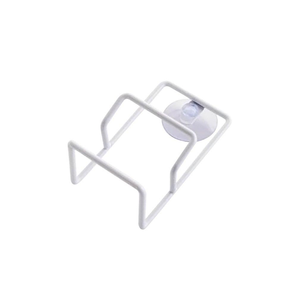 blanco BESTONZON Soporte de esponja con ventosa Organizador de fregadero Lavavajillas de jab/ón de acero inoxidable Rack
