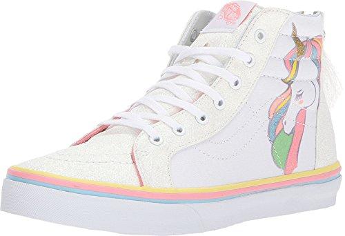 Vans Unicorn Sk8-Hi Zip VN0A3276QR1 (Unicorn) Rainbow/White Glitter Kids - Top High Vans Kids