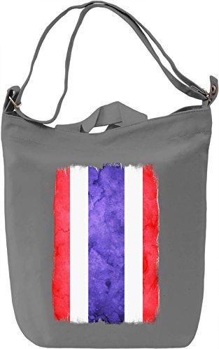 Thailand Flag Borsa Giornaliera Canvas Canvas Day Bag  100% Premium Cotton Canvas  DTG Printing 
