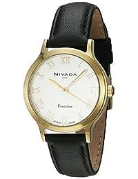 Nivada NP16048LDOBR Around Reloj Cuarzo Análogo, color Blanco/Negro
