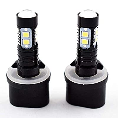 2 PCS 880 899 50W 6000K White High Power LED Projector Fog Lights Bulbs: Automotive