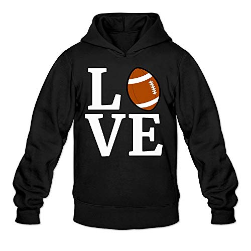 Rugby Heavyweight Hooded - Love Rugby Ball Men's Hoodie Long Sleeve Outerwear Cotton Sweatshirt