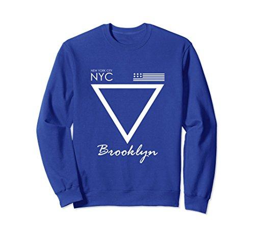 Unisex NYC Brooklyn in Upside Triangle Frame, Sweatshirt XL: Royal - Frames In Nyc