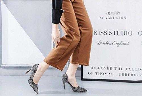 Party Reine Danse EU39 Mode Toe De Sandales Luxe CLOVER De LUCKY Chaussures Escarpins De Bureau Princesse Heels Femmes Haute A Dames Peep Company Mariée Vintage Escarpins HqRT4cOPTW