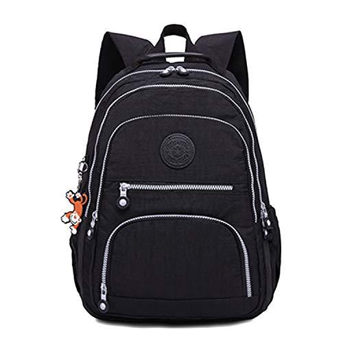 Women School Backpack for Teenage Mochila Feminina Laptop Travel Backpacks,black,27CMX13CMX37CM 1368