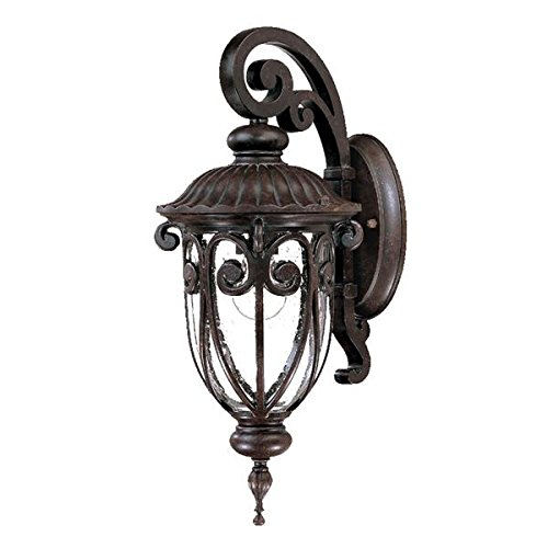Acclaim 2102MM Naples Collection 1-Light Wall Mount Outdoor Light Fixture, Marbleized Mahogany Acclaim Lighting Naples Collection