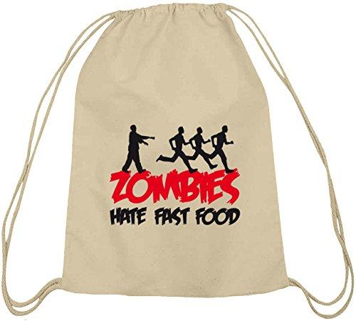 natur Turnbeutel ZOMBIES HATE FAST FOOD Natur K9CuFE