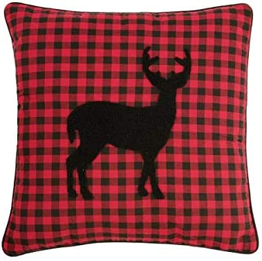 C F Home Woodford Throw Pillows Coordinates with Russell Quilt Set Deer Pillow 18 x 18