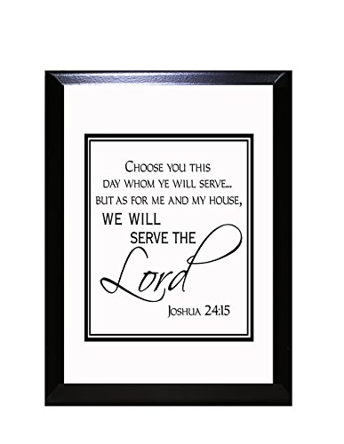 As for Me and My House We Will Serve The Lord Wall Plaque Sign 9 in x 12 - Plaque 9 Inch X 12 Inch