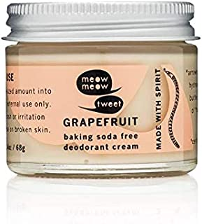 product image for Meow Meow Tweet Natural Deodorant for Sensitive Skin - Baking Soda Free Deodorant Cream - Grapefruit