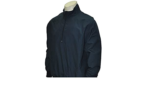 SMITTYBBS-321 NAVY Baseball Softball Microfiber Shell Pullover Umpire Jacket