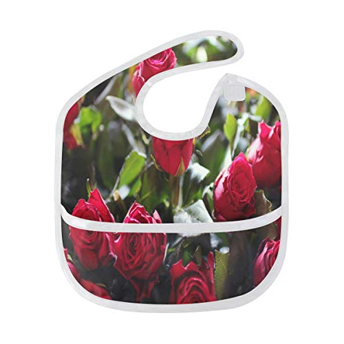 Baby Bibs Rose Bouquet Large Drool Boys Starter Bib/Smock ()