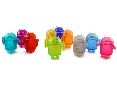 Clear Rainbow Android Collectible Set Of 10 Mini Figures DYZPlastic