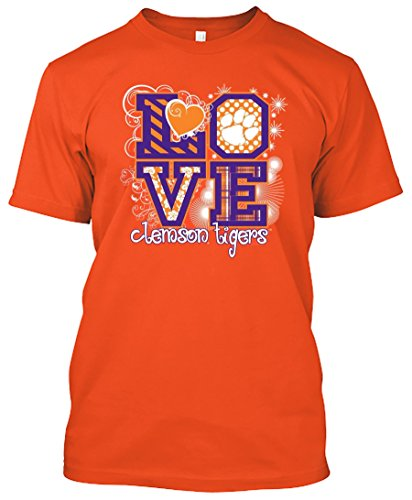 NCAA Love T-shirts - Alabama, Arkansas, Auburn, Clemson, Florida, FSU, Georgia, Kentucky, LSU, Mississippi St., Ole Miss, South Carolina, Tennessee, Texas A&M (Clemson Tigers, XX-Large)