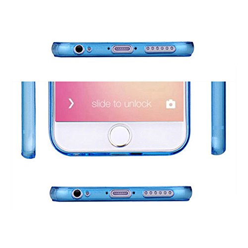 iPhone 6 Case - SODIAL(R)Ultraduenner Weicher TPU Blauer Case fuer iPhone 6Plus 5.5""