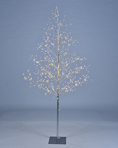 Lightshare 5 ft. LED Tree - Starlit Tree Collection with Warm White LED Lights, 5 Feet, Silver, Perfect For Home Décor Holiday Party Wedding