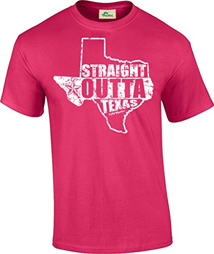 Hip Together Straight Outta Texas Unisex Tee (Medium, Hot - Springs Hot Little Hot Creek