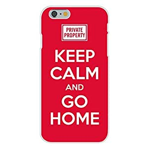 "Apple iphone 5 5s Custom Case White Plastic Snap On - Keep Calm and Go Home ""Private Property"