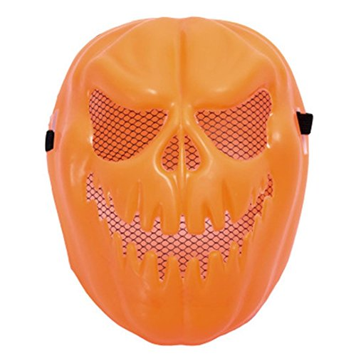 SUPPION 2017 Scary Squash Incisors Pumpkin Halloween Party Mask (Orange) ()