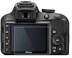 KIMILAR protector de pantalla de cristal templado para Nikon D3400 ...