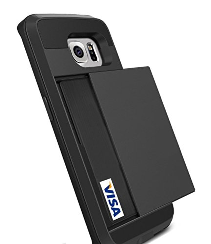 Wallet Case For Samsung Galaxy S6 edge (Black) - 8