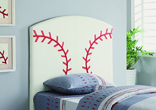 Coaster Home Furnishings 460167 Casual Headboard, Twin, White by Coaster Home Furnishings