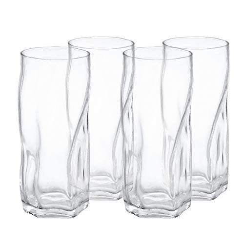 Drinking glasses Clear Water Tumbler, Highball Glassware Set of 4, 18OZ ()