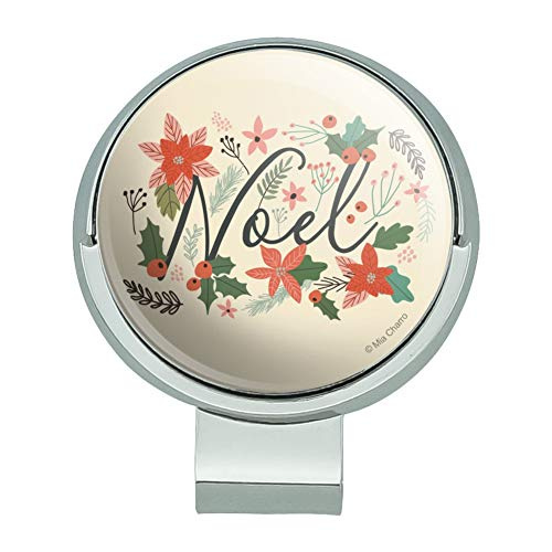 (GRAPHICS & MORE Noel Christmas Holly Poinsettias Golf Hat Clip with Magnetic Ball Marker)