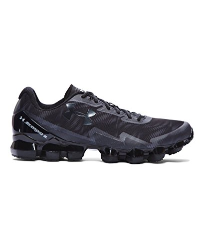 Under Armour Mens Scorpio Black/Stealth Grey Synthetic Running Shoes 11 M US