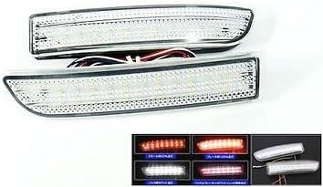 LEDIN Clear Lens Bumper Reflector LED Tail Brake Light Backup Lexus 06-13 IS250 IS350