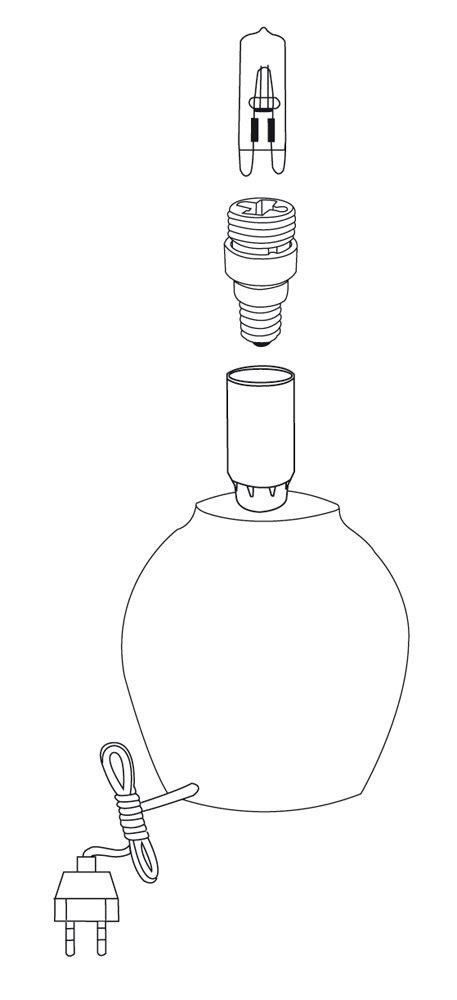 Tibelec 857820 Transformateur de Douille E14 /Ã/ G9 Blanc M/étal//Plastique//C/éramique