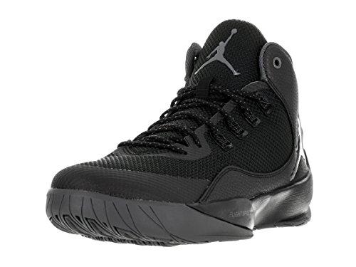 Nike Jordan Rising High Basketball Schuhe Schwarz / Dunkelgrau-Schwarz-Infrarot 23