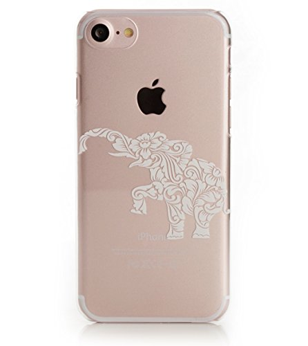 "iPhone 8 / 7 Case, Arktis Tattoo Hülle ""kleiner Elefant"" weiß"